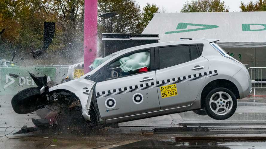 Nissan Leaf im Dekra-Crashtest
