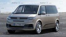 VW T7 (2021): Der neue Bulli im Rendering