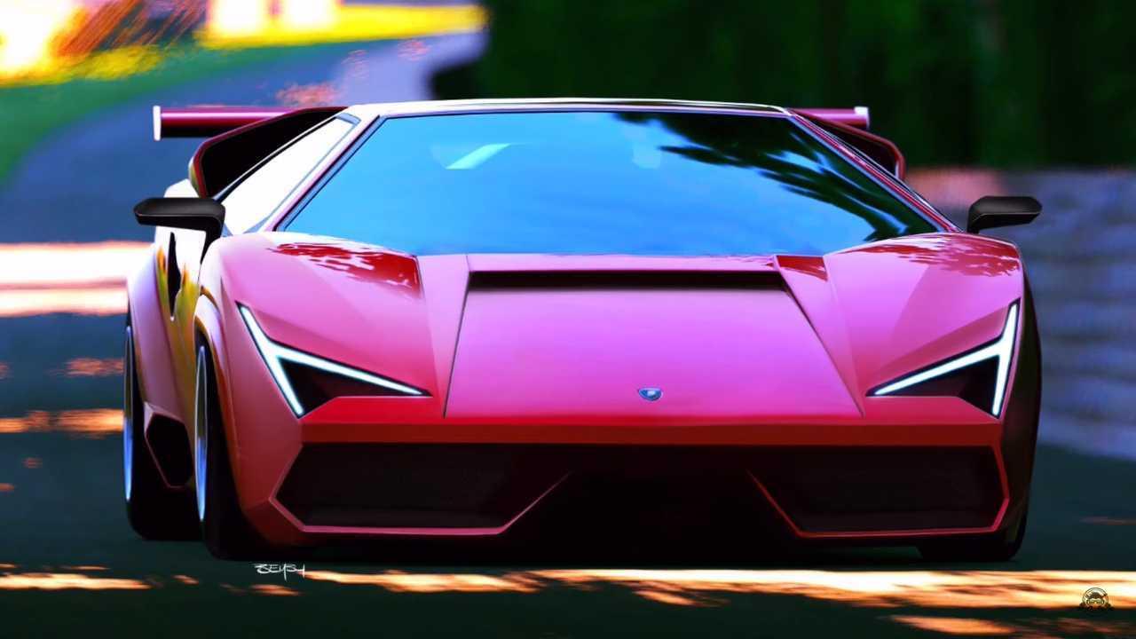 Modernized Lamborghini Countach