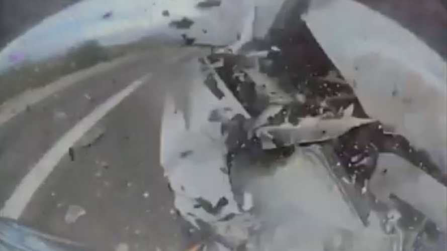 Watch Tesla Model 3 Get Smashed And Totaled In Violent Rear-End Crash