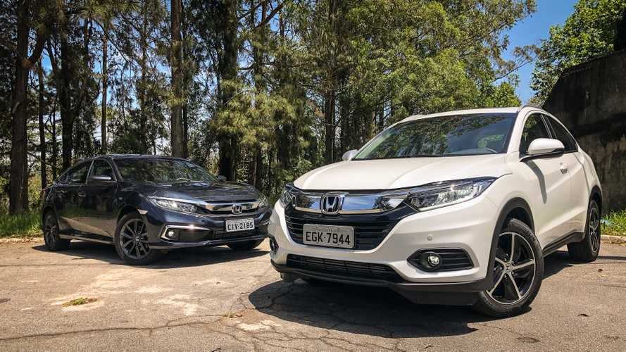 Comparativo Honda Civic Touring x HR-V Touring
