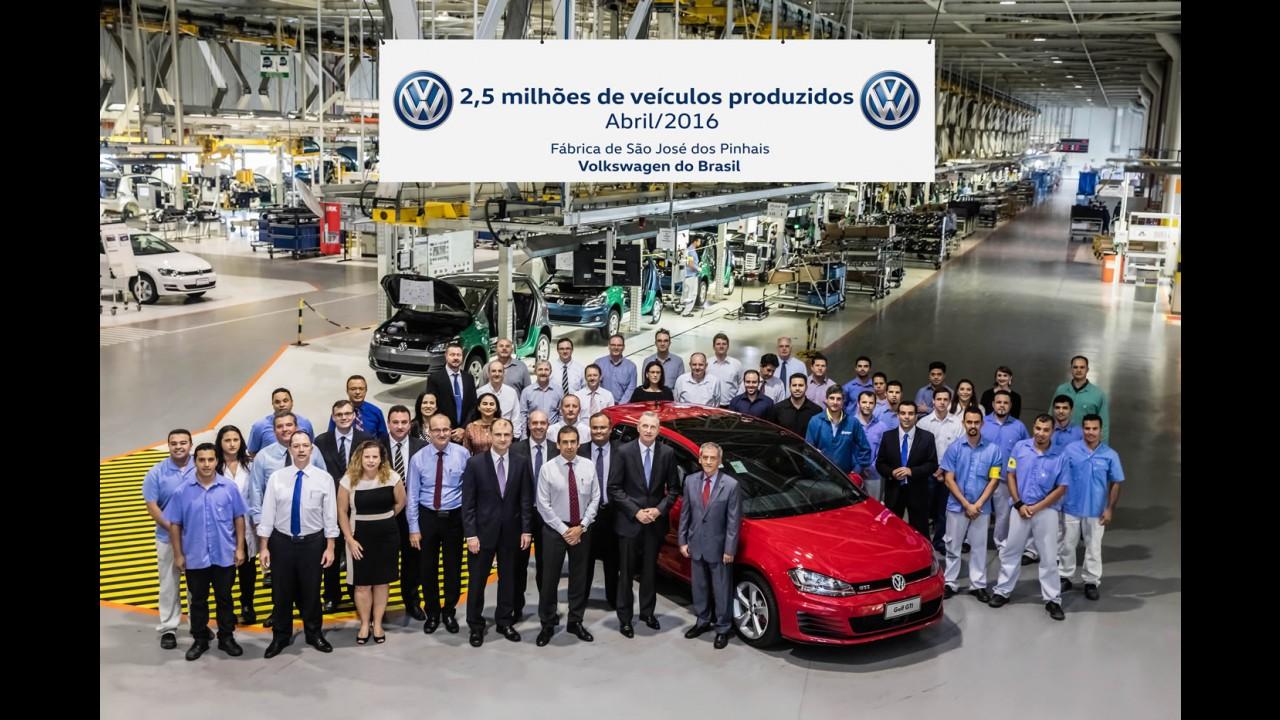 Volkswagen chega a 2,5 milhões de carros produzidos em São José dos Pinhais