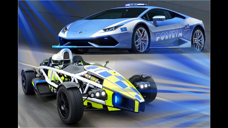 Polizeiautos von Bugatti, Ferrari, Lamborghini und Co.