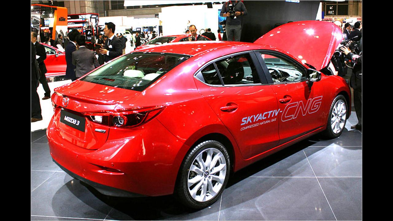 Mazda 3 Skyactiv-CNG Concept und Mazda 3 Hybrid