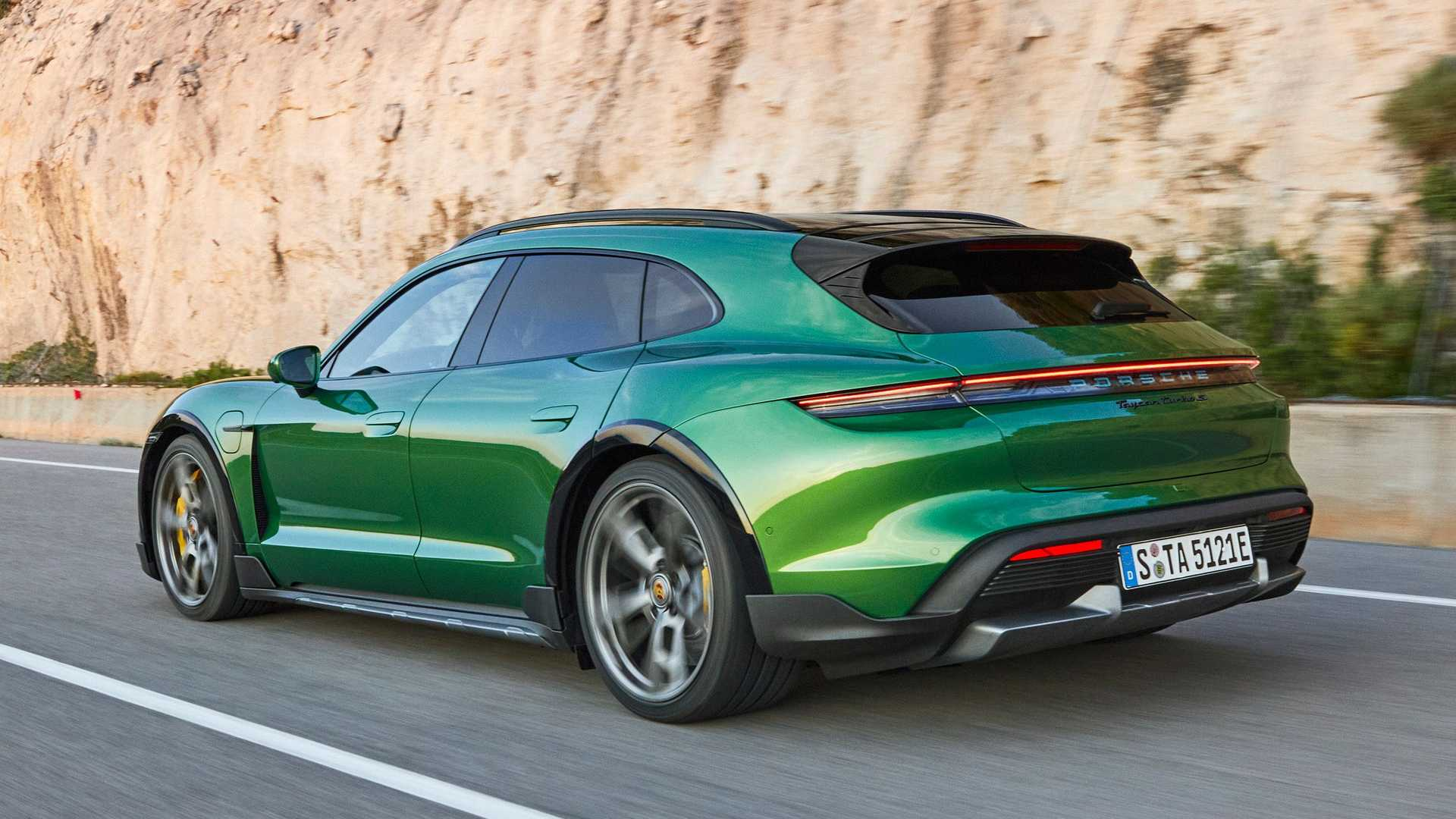 Porsche Taycan Cross Turismo Debuts With Huge Glass Roof, Gravel Mode