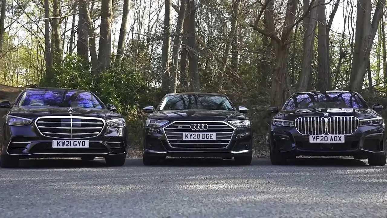 Mercedes S-osztály vs BMW 7 vs Audi A8