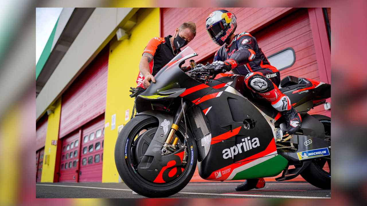 Andrea Dovizioso Aprilia RS-GP Test at Mugello 2021