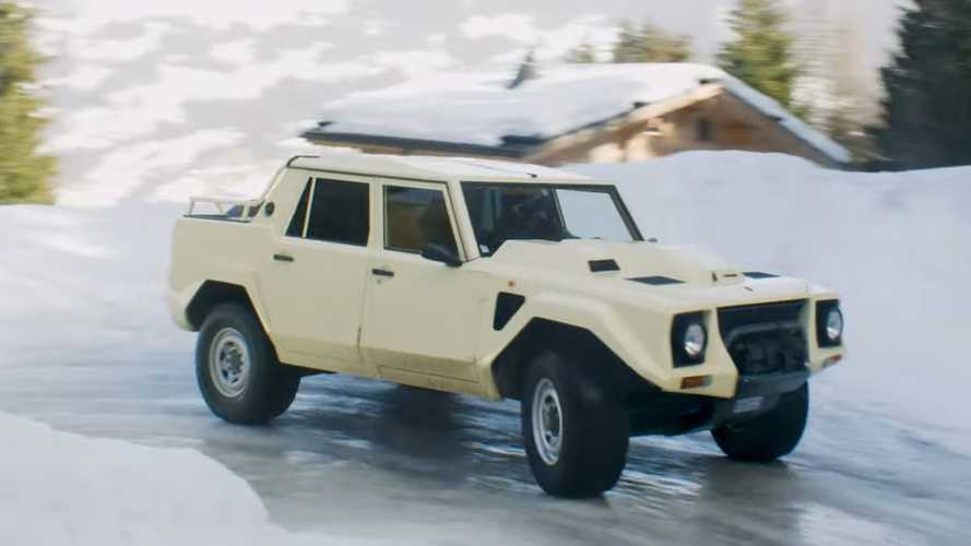 Driving A Lamborghini LM002 In The Snow Looks As Cool As It Sounds