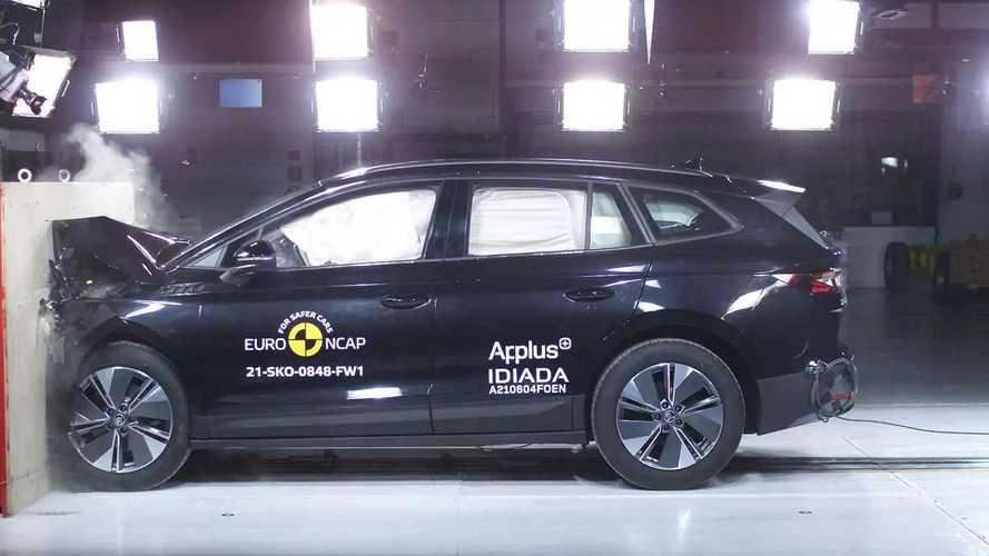 Skoda Enyaq iV im EuroNCAP-Crashtest (2021)