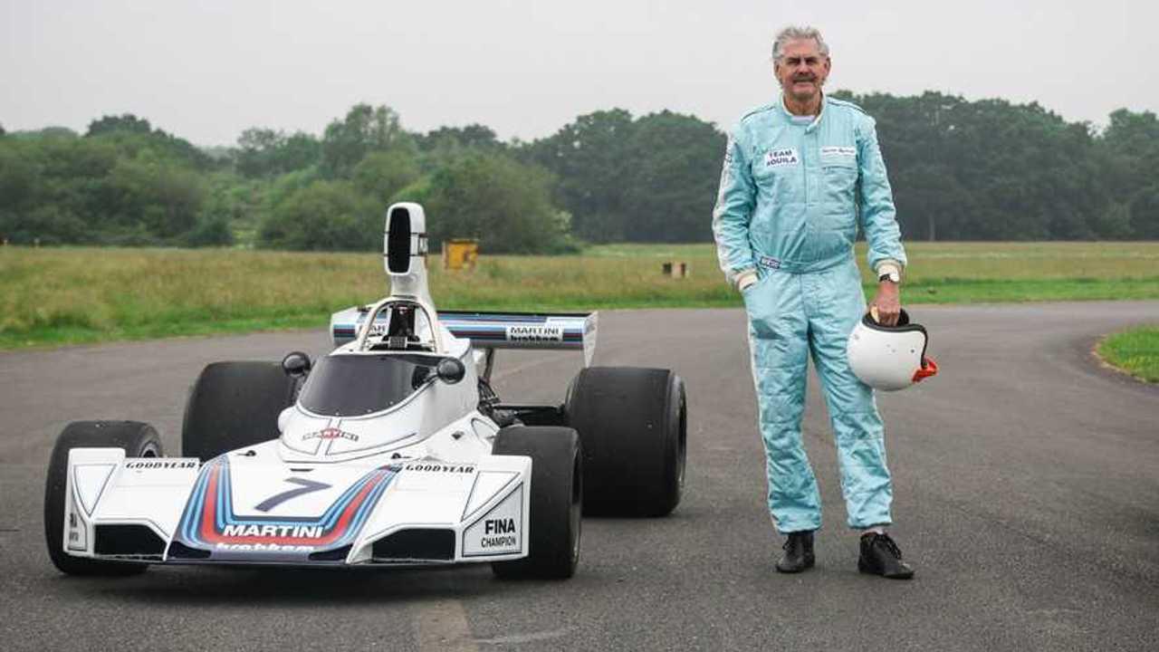 Gordon Murray con su legendario Brabham Ford BT44B