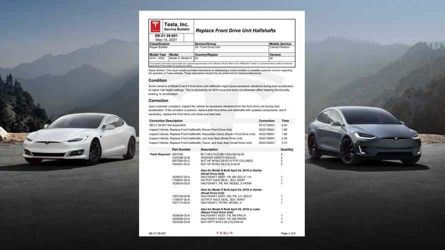 Tesla Has New Service Bulletin On Model S/X Acceleration Shudder