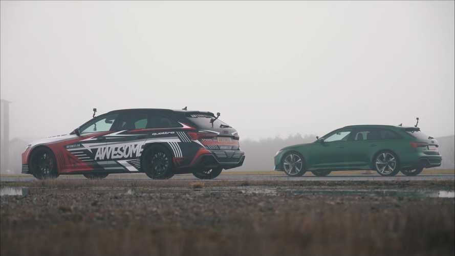 UK 2021 Audi RS6 Avant drag races itself in stock vs tuned showdown