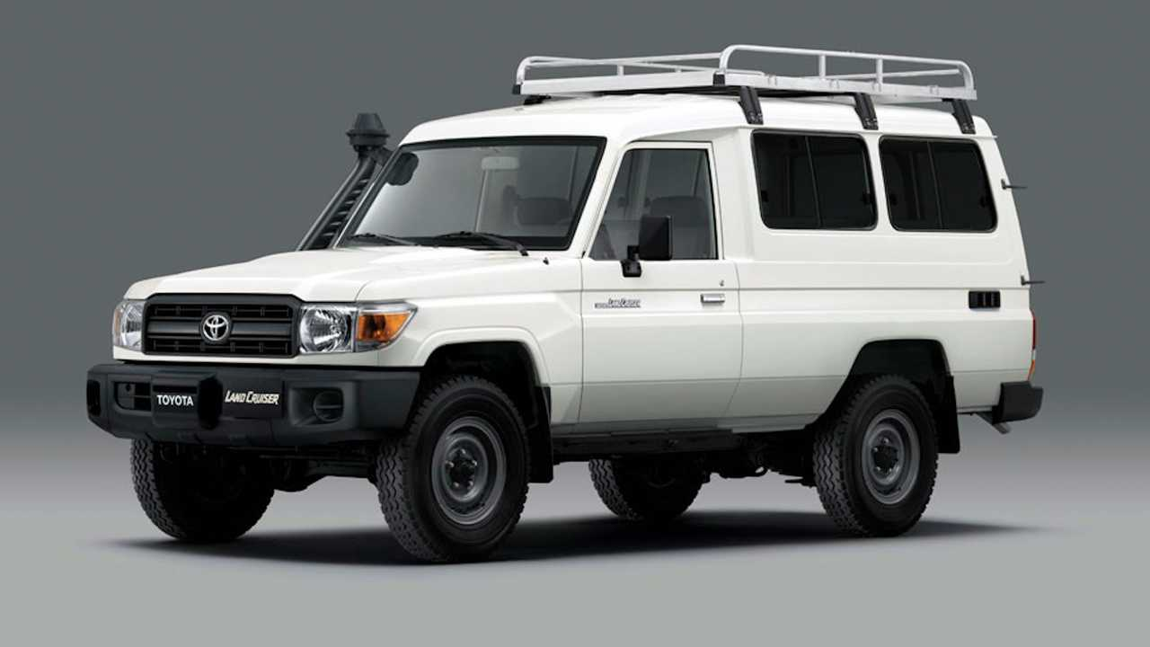 Toyota Land Cruiser 78 converted into vaccine delivery vehicle.