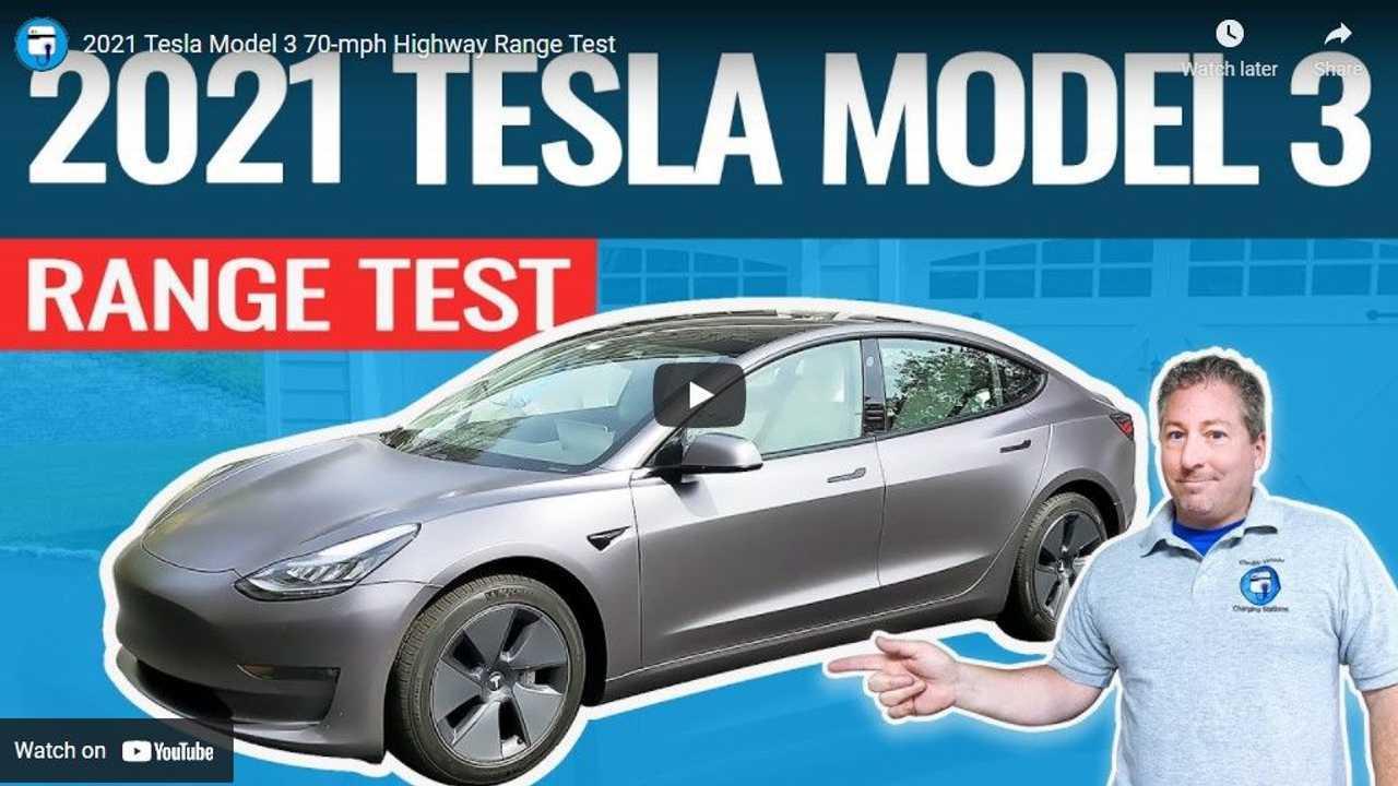 Uji jarak (test range) Tesla Model 3 2021 oleh tim Inside Evs.