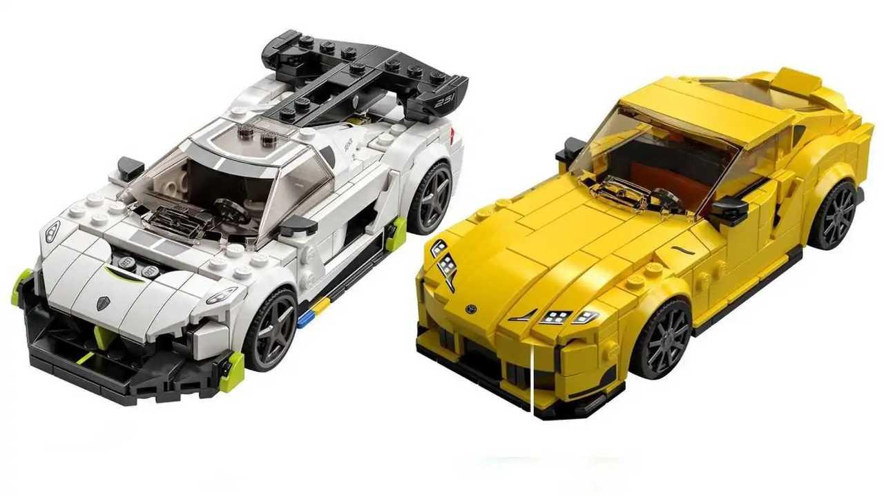 Koenigsegg Jesko y Toyota GR Supra de Lego Speed Champions 2021