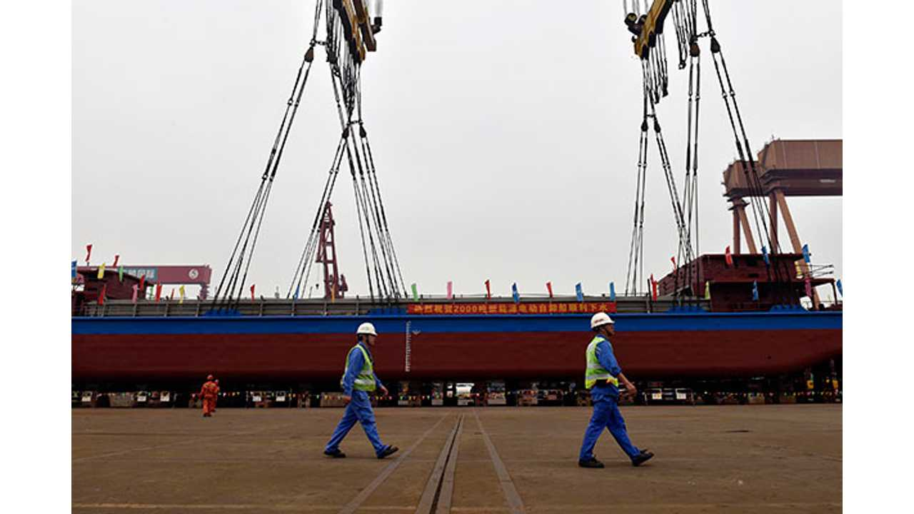 World's First All-Electric Cargo Ship Will Transport...Coal