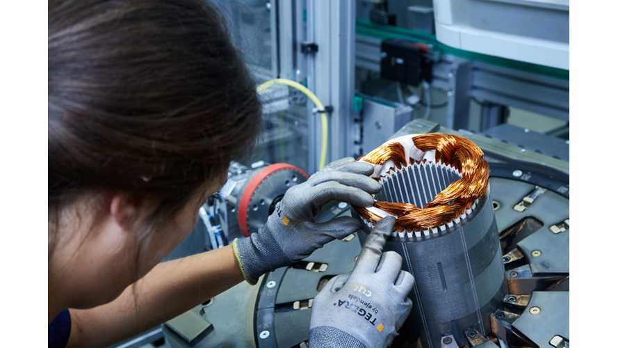 Production of electric components in BMW's Dingolfing facility for plug-in vehicles