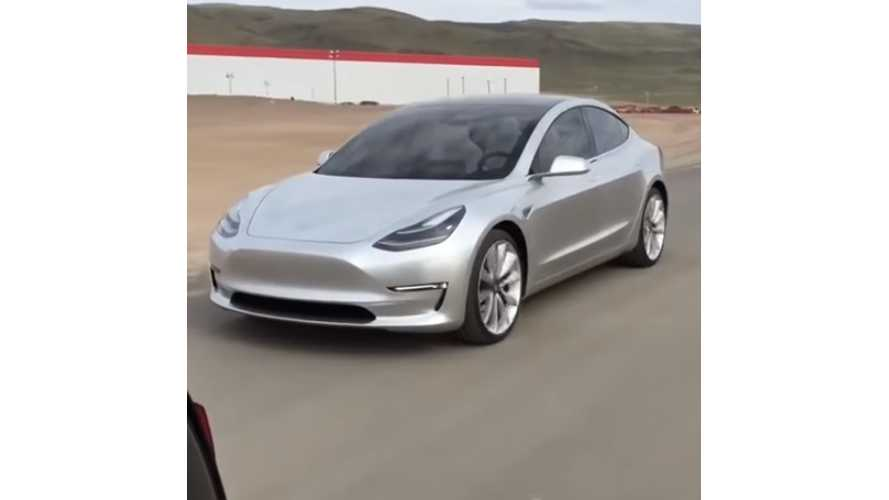 Tesla Model 3 Gets Taken Out For A Spin At The Gigafactory By Motor Trend
