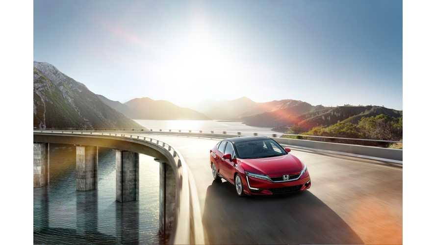 "2017 Honda Clarity Fuel Cell Lease Pricing Lower Than Expected at $369 a Month. BEV, PHEV ""Coming Soon"""