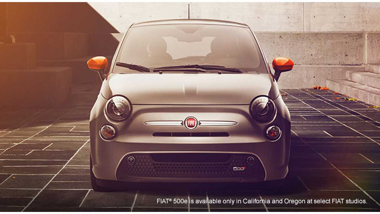 Slightly Changed 2015 Fiat 500e Now On Sale In Oregon - $199 Lease In Effect