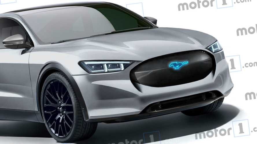 Ford Mustang crossover elettrico, il rendering