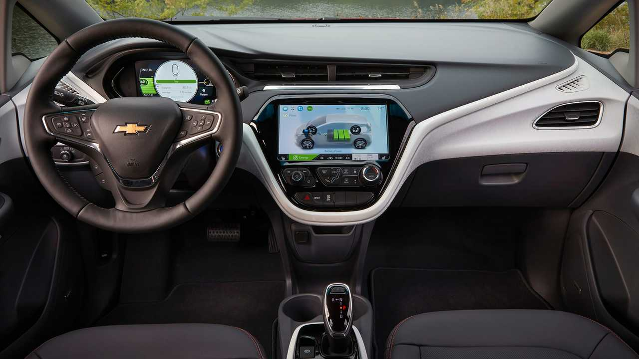 The Chevy Bolt's dashboard design is not upscale but it works.
