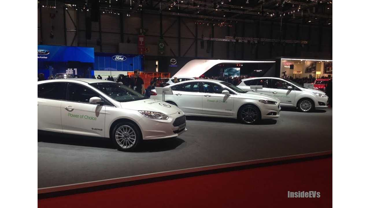 Ford's Cumulative Plug-In Family Makes The Company A Serious Player In The US Market (Image From 2015 Geneva Auto Show)