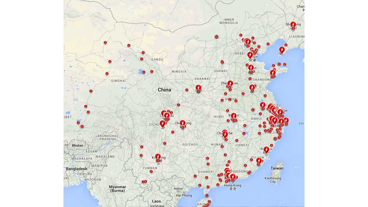 Turns Out There Are Lots Of Tesla Chargers In China