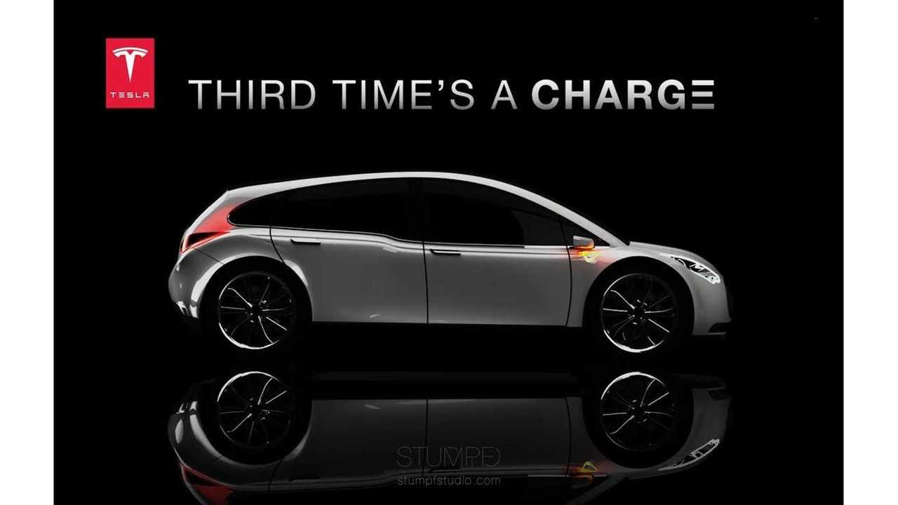 Tesla Model 3 Render via Stumpf Studio 3