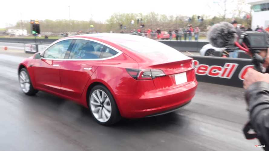 Watch Tesla Model 3 Set New Quarter-Mile Record