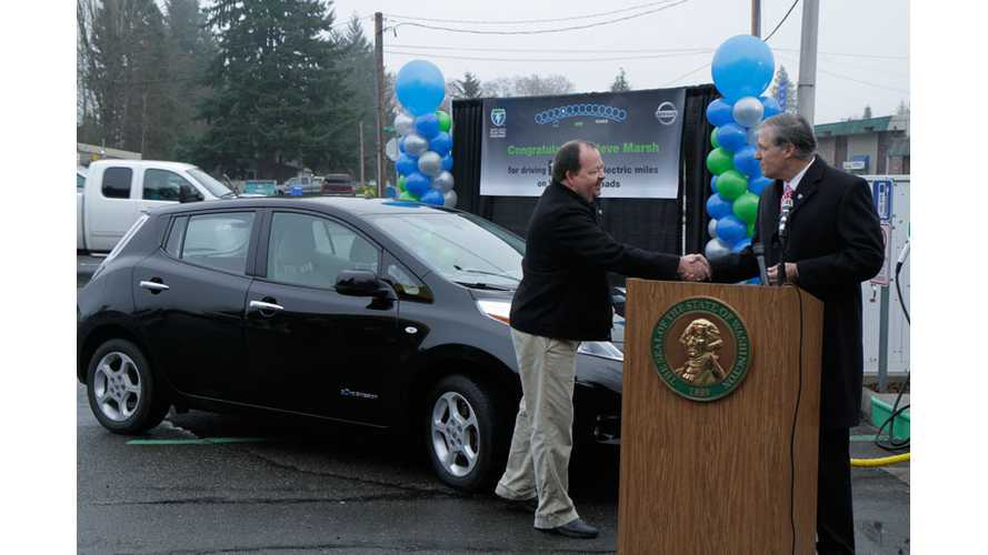 Steve Marsh's 2011 Nissan LEAF Loses Fifth Battery Capacity Bar At 141,000 Miles