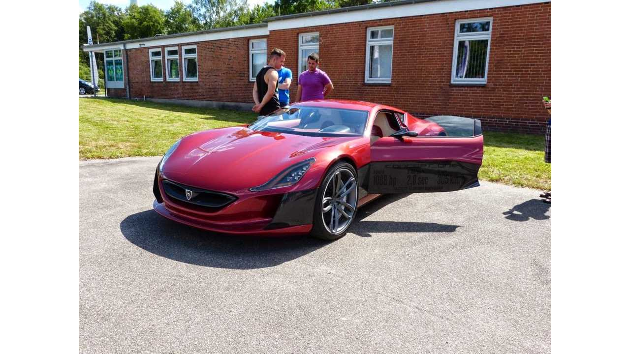 Rimac Concept One And Tesla Roadster Hit The Road - Video