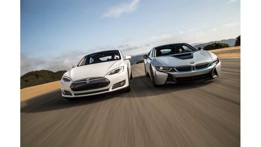 Motor Trend Comparison: Tesla Model S Versus BMW i8
