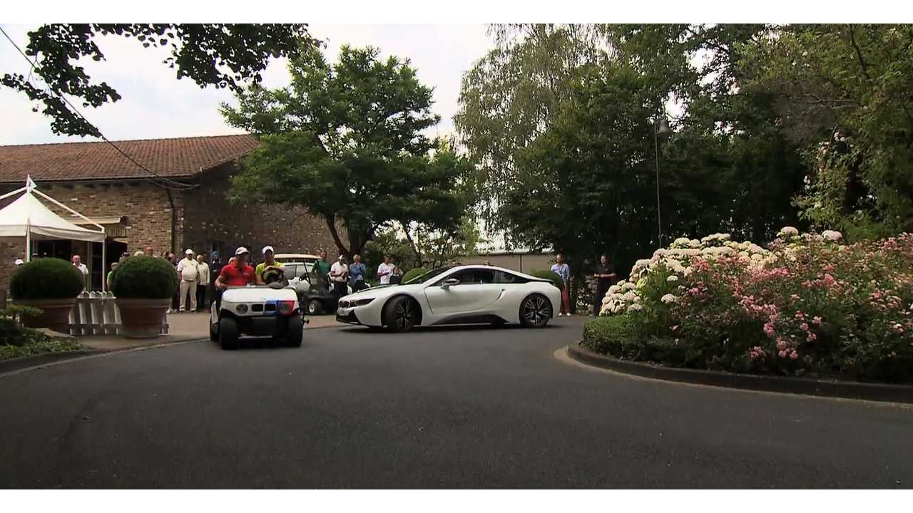 BMW i8 Advertisement In Which i8 Races A Golf Cart