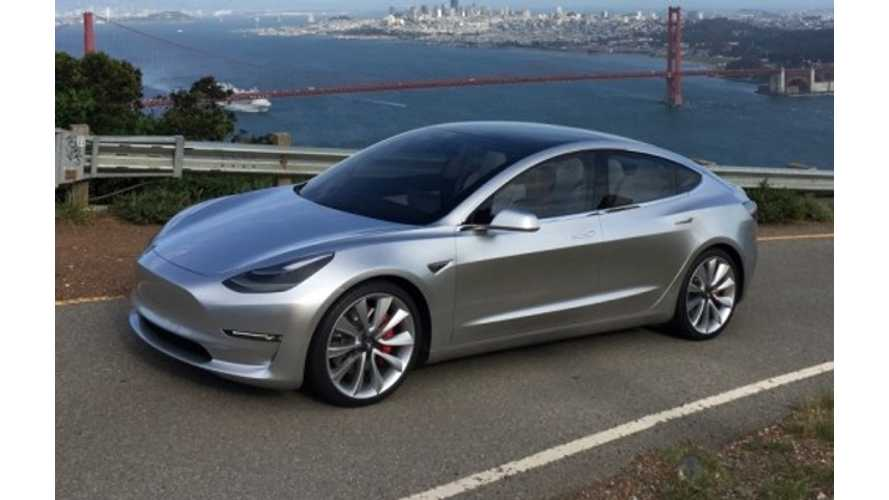 """Elon Musk Says Chances Are """"Pretty Good"""" For AWD Tesla Model 3 Deliveries To Start By End Of 2017"""
