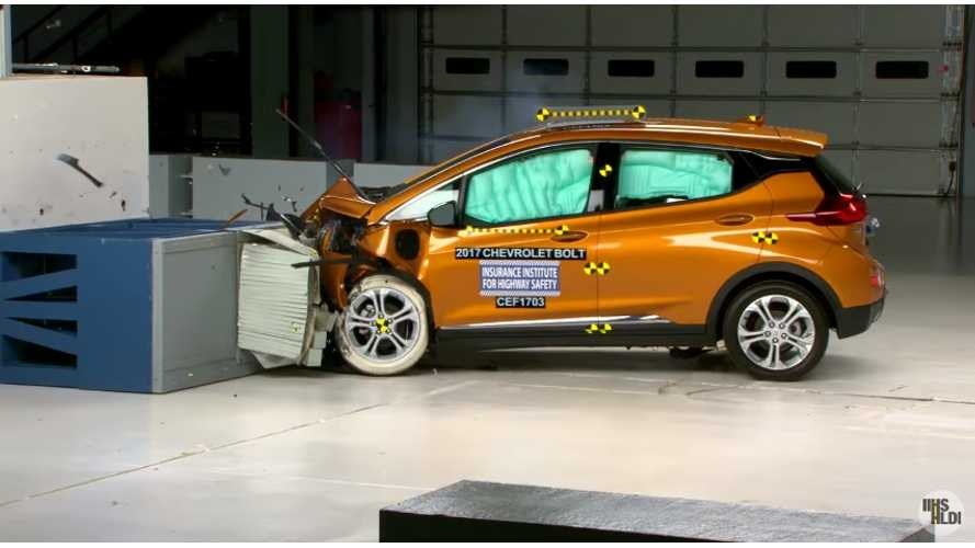 Chevrolet Bolt EV An IIHS Top Safety Pick - Crash Test Videos