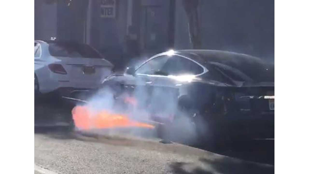 Tesla Model S Catches Fire While In Motion - Not Caused By Crash