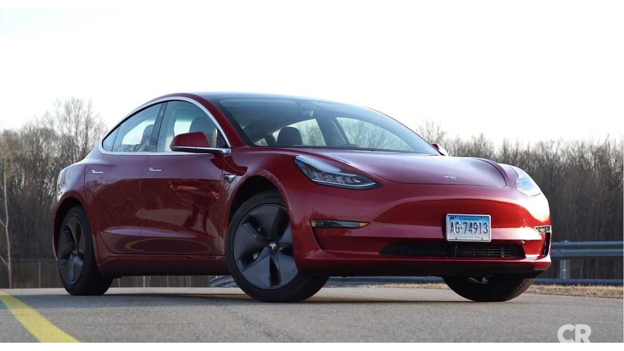 Consumer Reports Still Not Fully Impressed By Tesla Model 3