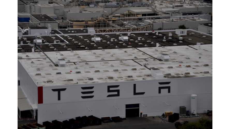 Outdoor Recycling Tent Catches Fire At Tesla Fremont Factory