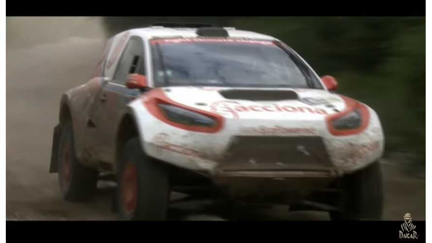 Electric Car Competing In This Year's Dakar Rally - Video