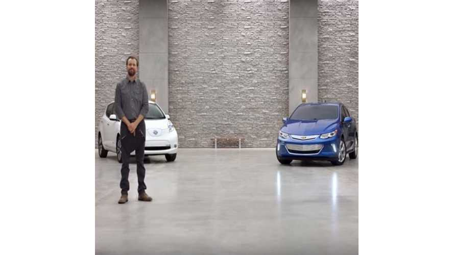2016 Chevrolet Volt Ads Target LEAF, Prius - Videos