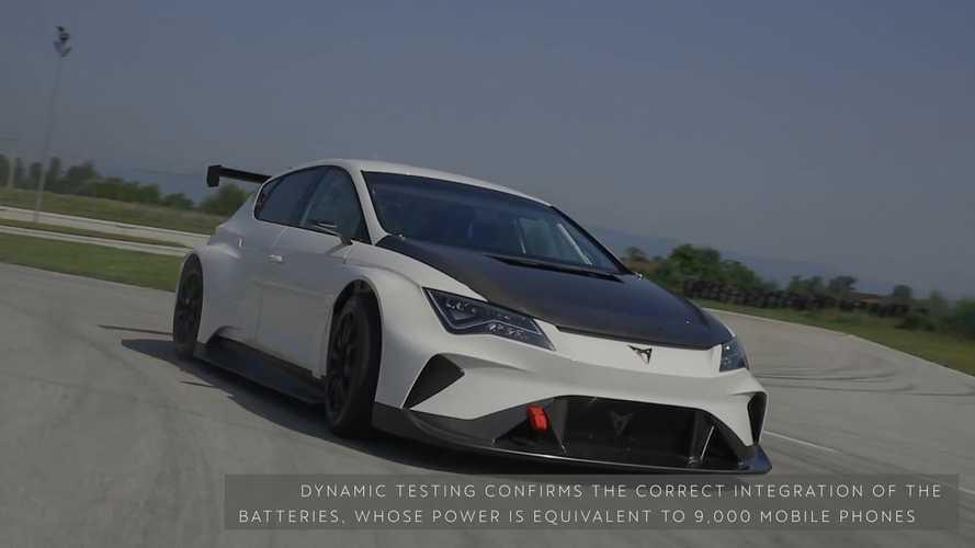 Watch As 670-HP, Rear-Wheel-Drive Cupra E-Racer Hits The Track
