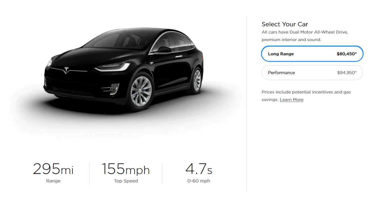 Tesla Model X offer in U.S. - March 22, 2019