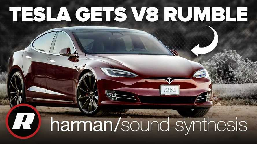 Hear What A Tesla Model S Sounds Like With V8 Engine Rumble: Video