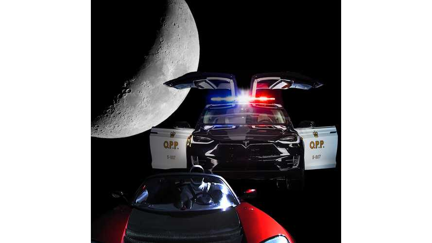 Tesla Model X Police Cruiser Catches Speeding, Mars-Bound Roadster