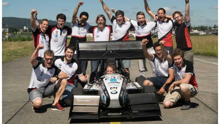 EV Race Car Sets 0-62 mph World Record (100 km/h) In 1.513 Seconds (w/videos)