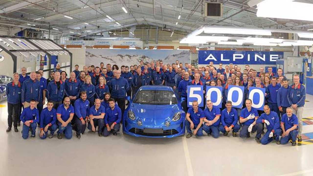 5000 Alpine A110 produites