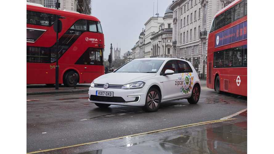 Zipcar UK VW e-Golf Fleet Covered More Than 50,000 Trips In 6 Months