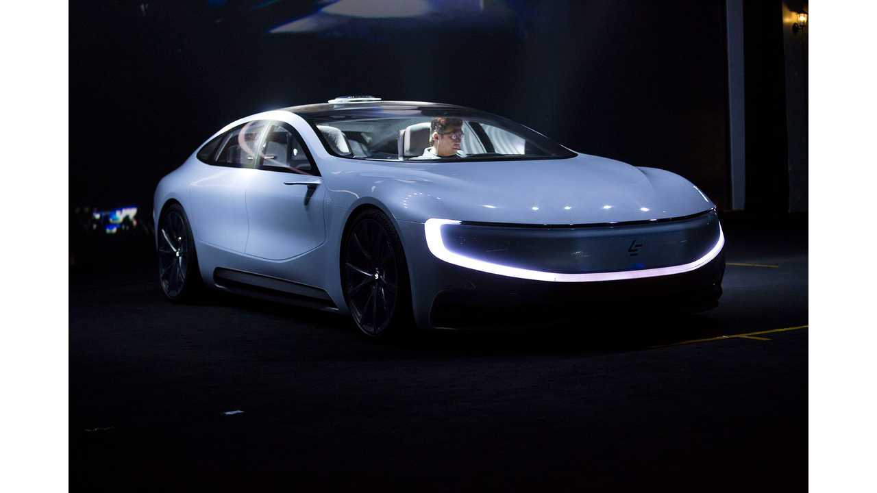 LeEco LeSEE Autonomous Electric Car Fails To Drive Down Runway For Debut