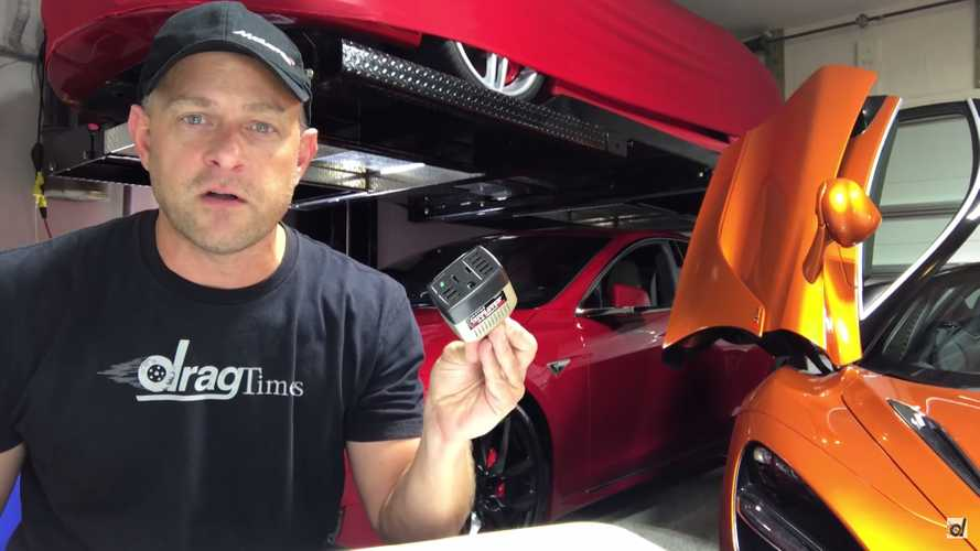 Tesla Model S Provides Power During Irma Outage - Video